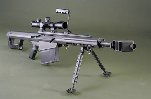 Barrett .50 cal Sniper Rifle with scope and bi-pod