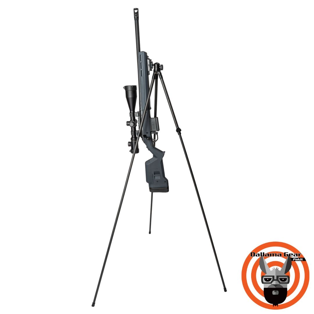 The OTM stands for On the Mountain, which is Dallama Gears full-size shooting tripod in Pflugerville, TX