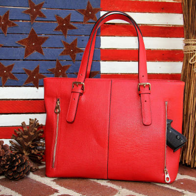Concealed Carrie Red Tote