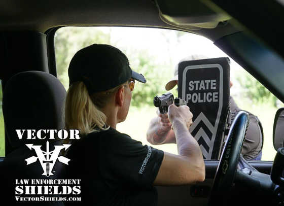 Vector Police Shields aid officers at felony traffic stops.
