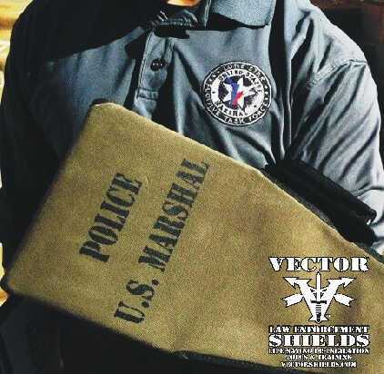 The US Marshals, the DEA, the Oregon DOJ and US Border Patrol SOG use Vector Police Shields In Crestline, CA