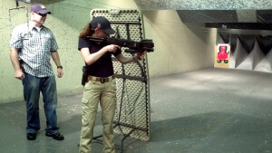 Women with firepower in training