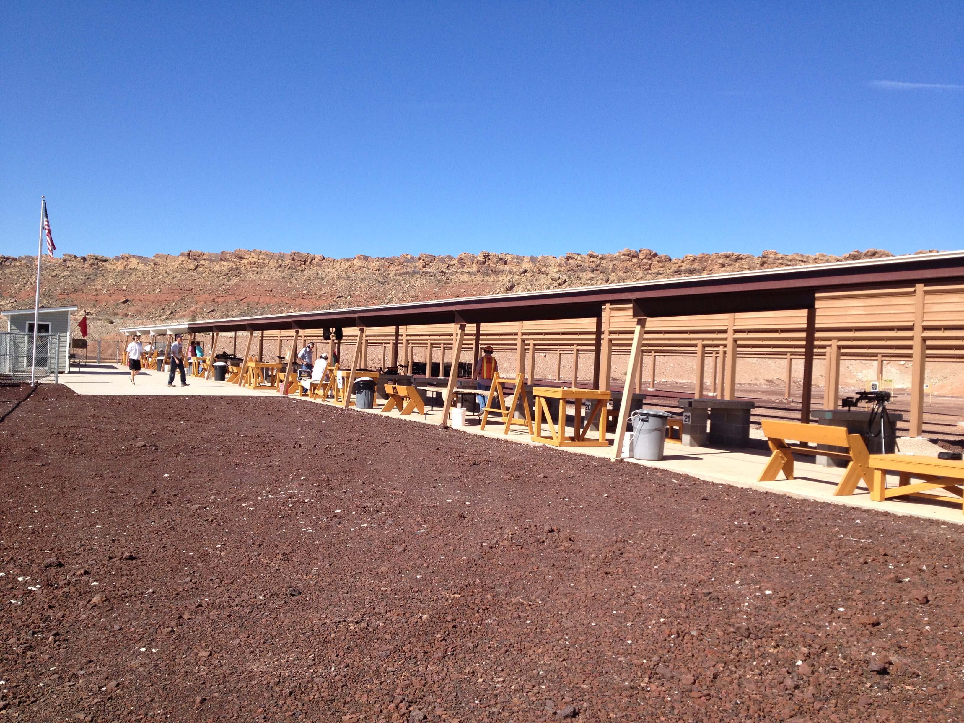 Outdoor Shooting Range Bench Area