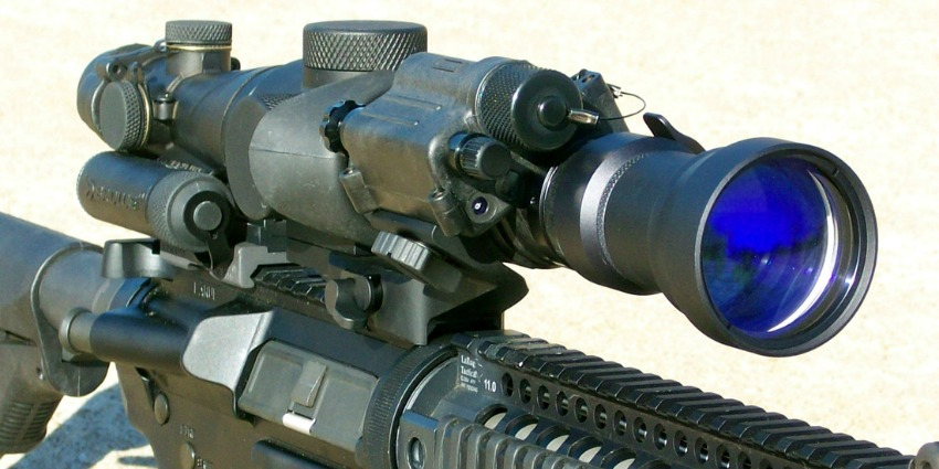 Black Optex Tactical Night Vision Imaging System