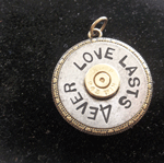 Gun Jewelry Love lasts 4ever keychain