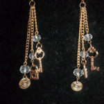 Gun Jewelry Locked Up Drop Earrings