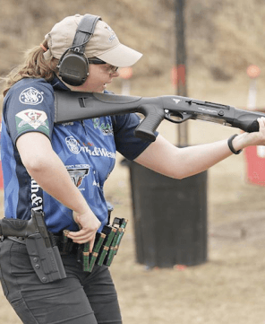 Woman 3-gun Competition Shooting