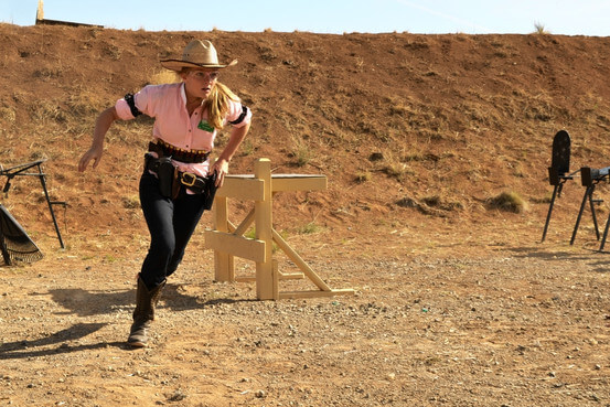 Woman Cowboy Action Shooting