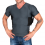 Men's Concealment V-Neck Single Shirt Grey
