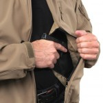 Tactical Concealment Jacket Tan Concealment Pocket